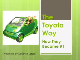 The Toyota Way to No.1