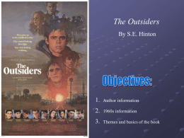 The Outsiders Intro. PPT File