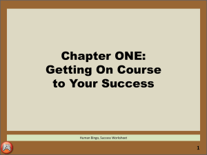 2. CH1-Getting On Course to Your Success