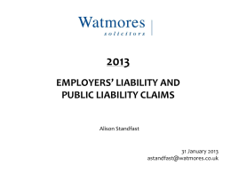 Employers Liability and Public Liability Claims….ALISON pptx