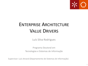 Enterprise Architecture Value Drivers