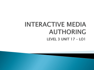Unit 17 - Interactive media authoring