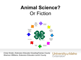 Bringing out the Science in 4H leaders forum powerpoint presentation