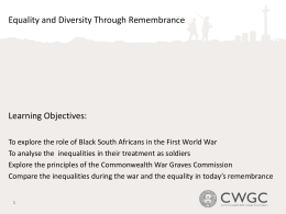 KS3 Explore the Equality and Diversity in Remembrance (PowerPoint)