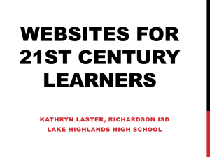 140422 - Websites for 21st Century Learners