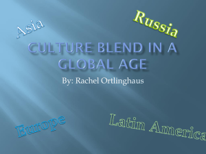 Culture Blend in a Global Age