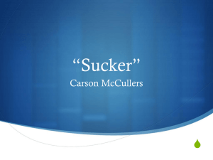 """Sucker"" Carson McCullers Shared Inquiry"
