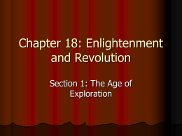Chapter 18: Enlightenment and Revolution
