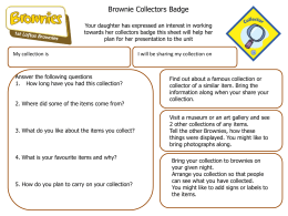 Brownie Collectors Badge Your daughter has expressed an interest