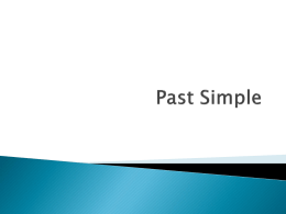 Past Simple - helpdesk2den