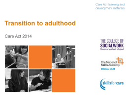 Transition to adulthood overview slide pack