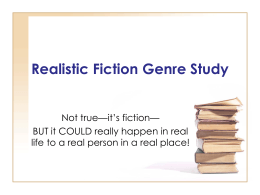 Realistic Fiction Genre Study-2