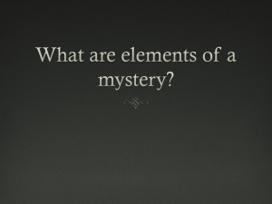 Mystery Elements Powerpoint - christopher-coles