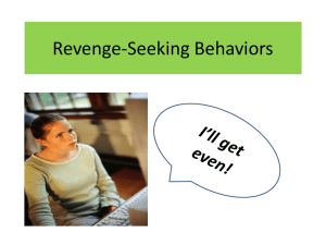 Revenge-Seeking Behaviors