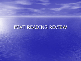 FCAT READING REVIEW