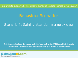 Scenario 4 - Gaining attention in a noisy class