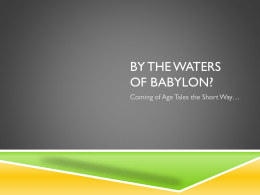 By the Waters of Babylon?