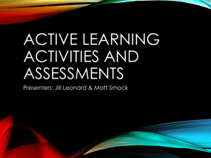 Active Learning Activities and Assessments slides