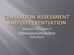 Classroom Assessment and Differentiation - NWAEA