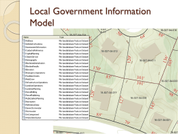 Local Government Data Model - the Atlanta Regional Commission