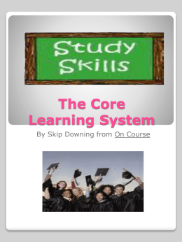 The Core Learning System - Northern Virginia Community College