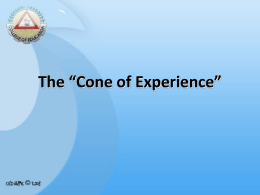 The *Cone of Experience*