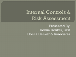 Internal Controls and Risk Assessment