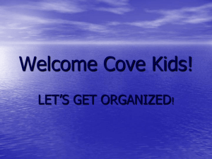 Welcome Back Cove Kids!
