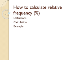 how to calculate relative frequency (%) – pbworks