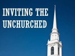 Inviting the Unchurched