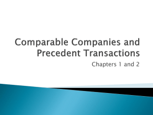 Comparable Companies and Precedent Transactions