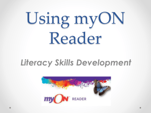 Using myON Reader - Crooked River Elementary School