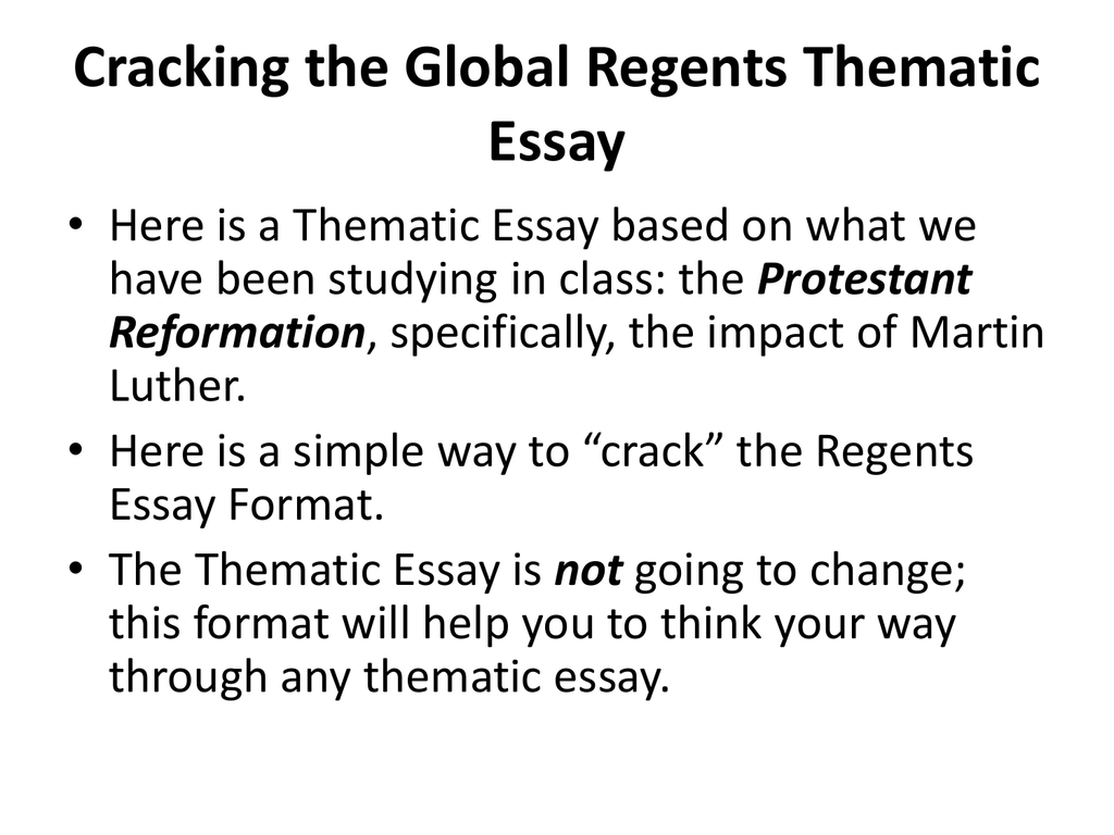 Global Regents Essay Mistyhamel
