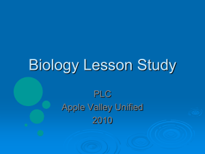 Biology Lesson Study ppt