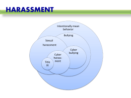 Harassment slides PowerPoint presentation