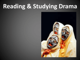 Drama terms & reading