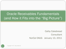 Oracle Receivables Fundamentatals (and How it