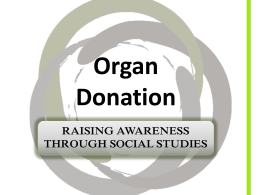 Powerpoint - the Organ Donation New Zealand website