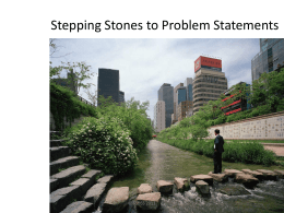 Stepping Stones to Problem Statements Presentation