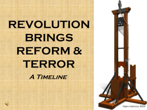 REVOLUTION BRINGS REFORM & TERROR