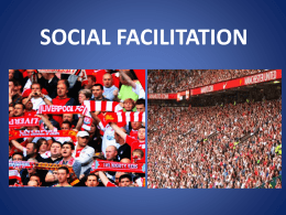 SOCIAL FACILITATION - Plantsbrook School