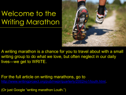 Writing Marathon
