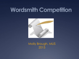 Wordsmith PowerPoint 2015