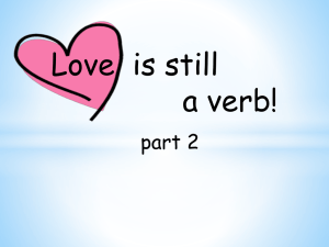 Love…still a verb! Presentation