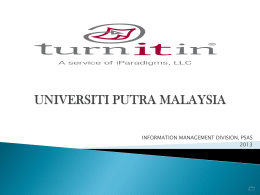 Guide for Supervisor/Instructor - upm