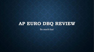 AP EURO DBQ REVIEW - Mrs. Dillon`s History Site