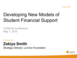Developing New Models of Student Financial Support – Presenter