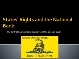 States` Rights and the National Bank