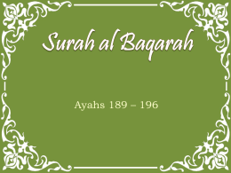 Surah al Baqarah - Journey to the Quran
