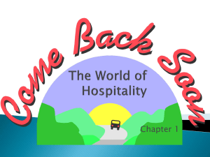 The World of Hospitality CH 1